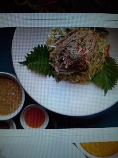 「紅蘭亭」鶏絲冷麺